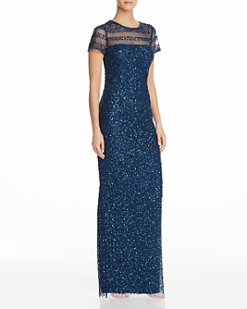 36f9cc30f16 Adrianna Papell - Embellished Illusion Gown ...