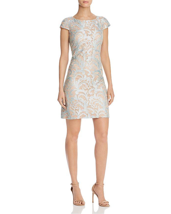 Eliza J - Lace Cap Sleeve Sheath Dress
