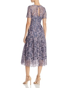 Eliza J - Short Sleeve Fit & Flare Lace Dress