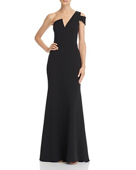 AQUA - One-Shoulder Ruffled Gown - 100% Exclusive