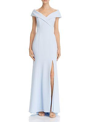 AQUA - Off-the-Shoulder Crepe Dress - 100% Exclusive
