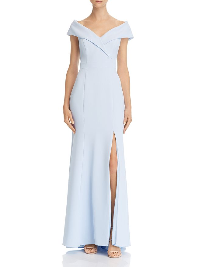 AQUA - Off-the-Shoulder Crepe Dress - 100% Exclusive