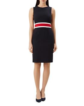 b6945314480 HOBBS LONDON - Annabel Striped-Waist Sheath Dress ...