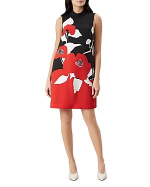 Hobbs London Delilah Sleeveless Floral-Print Shift Dress