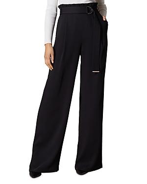 Karen Millen Pants BELTED WIDE-LEG PANTS