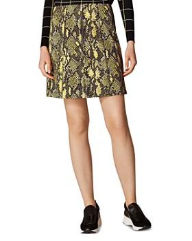 KAREN MILLEN - Snakeskin-Print Skirt