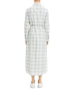 Theory - Belted Gingham Shirtdress