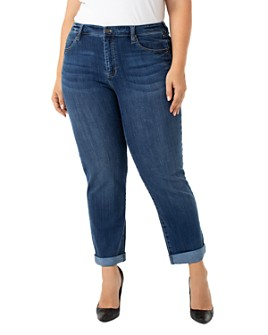 Liverpool Los Angeles Plus - Peyton Slim Boyfriend Jeans in Edgewater