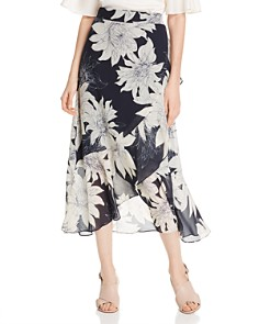 VINCE CAMUTO - Floral-Print Midi Wrap Skirt - 100% Exclusive