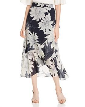 VINCE CAMUTO - Floral-Print Midi Wrap Skirt - 100% Exclusive