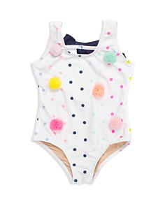 Shade Critters - Girls' Pom-Pom One-Piece Swimsuit - Little Kid