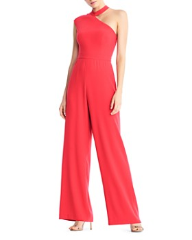 Aidan by Aidan Mattox - Crepe One-Shoulder Jumpsuit