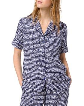 MICHAEL Michael Kors - Printed Piped Pajama Shirt