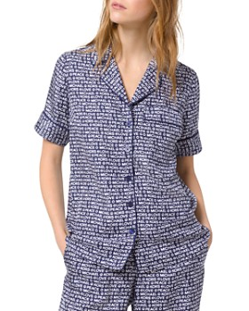 MICHAEL Michael Kors - Printed Piped Pajama Shirt