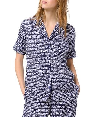 Michael Michael Kors Printed Piped Pajama Shirt-Women