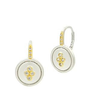 Freida Rothman Fleur Bloom Small Clover Earrings in 14K Gold-Plated & Rhodium-Plated Sterling Silver