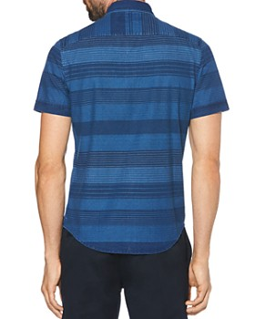 Original Penguin - Short-Sleeve Striped Slim Fit Button-Down Shirt