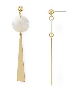 AQUA - Geometric Shell Drop Earrings - 100% Exclusive
