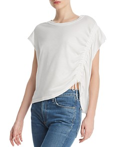 Current/Elliott - The Ruched Drawstring Tee