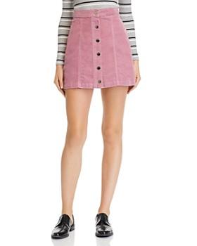 rag & bone/JEAN - Rosie Button-Front Corduroy Mini Skirt