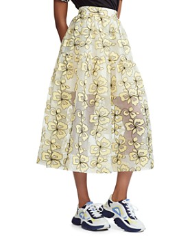 2faeb7f5e56537 Maje - Jizia Floral-Embroidered Midi Skirt ...