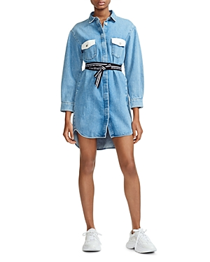 Maje Dresses RELMI DENIM SHIRT DRESS