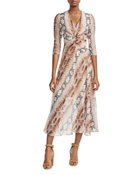 22604e4b55e9 Maje - Repena Snake Print Midi Dress ...