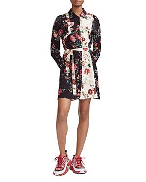 Maje Dresses RILLER FLORAL PRINT SHIRT DRESS