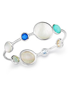 IPPOLITA - Sterling Silver Wonderland Mother-of-Pearl Doublet Bangle Bracelet