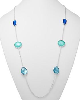 "IPPOLITA - Sterling Silver Wonderland Mother-of-Pearl Doublet Station Necklace, 42"""
