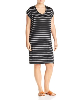 8e14403f92 Marc New York Plus - Striped T-Shirt Dress ...