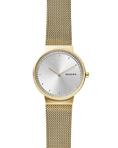 Skagen - Annelie Gold-Tone Mesh Bracelet Watch, 34mm