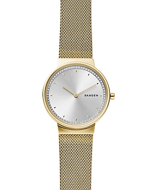 Skagen Jewelries ANNELIE GOLD-TONE MESH BRACELET WATCH, 34MM
