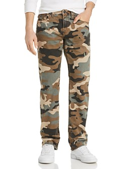 True Religion - Ricky Flap Straight Fit Jeans in Camo