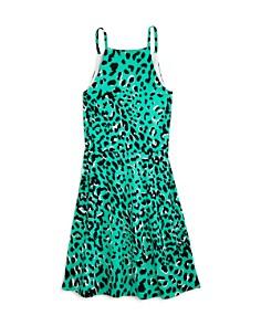 AQUA - Girls' Animal Print Halter Skater Dress, Big Kid - 100% Exclusive