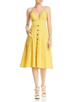 807c0577d5 AQUA - V-Neck Button Front Dress - 100% Exclusive ...