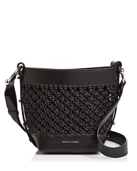Rebecca Minkoff - Leather Macrame Crossbody Bucket Bag - 100% Exclusive ... 4834bc7cd2f4f