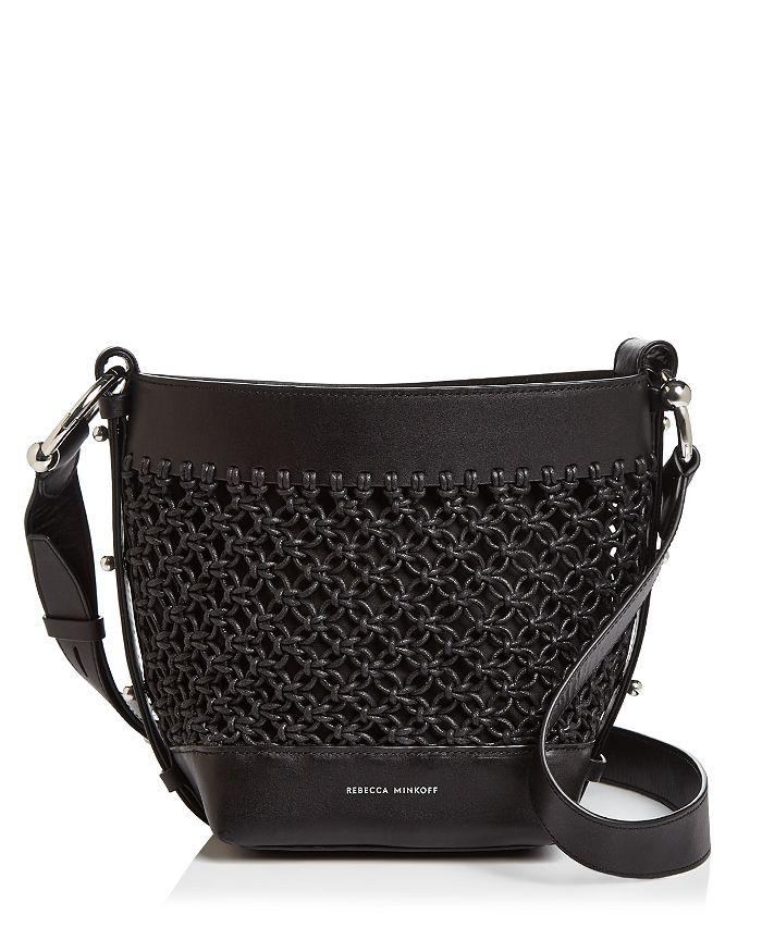 Rebecca Minkoff - Leather Macrame Crossbody Bucket Bag - 100% Exclusive