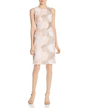 3292251f106f Calvin Klein - Leaf Lace Sheath Dress ...