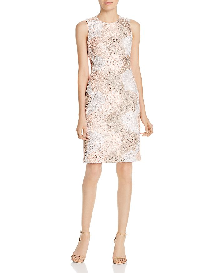 3d2c36181052 Calvin Klein - Leaf Lace Sheath Dress