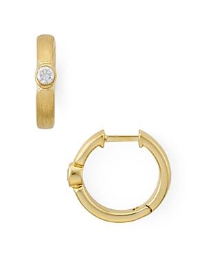 Nadri Textured Huggie Hoop Earrings-Jewelry & Accessories