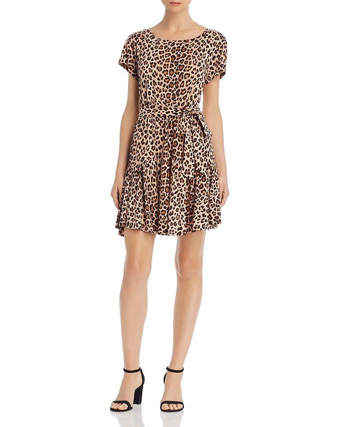 Rebecca Taylor - Belted Leopard-Print Dress
