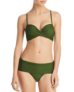 Robin Piccone - Lily Twist Bra D-Cup Bikini Top & Lily Banded Bikini Bottom