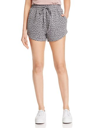 B Collection by Bobeau - Leopard-Print French Terry Shorts