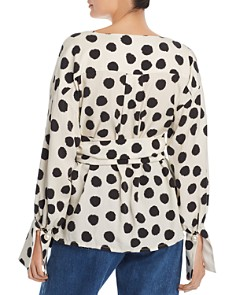 No Frills by Mother of Pearl - Faux Pearl Cuff Wrap Top