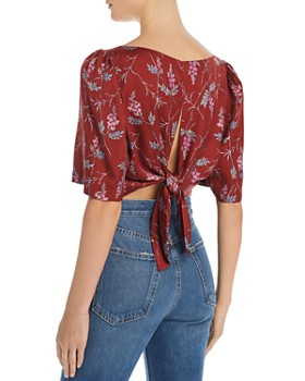 7a312755969629 ... Rebecca Taylor - Ivie Floral-Print Knot-Back Top