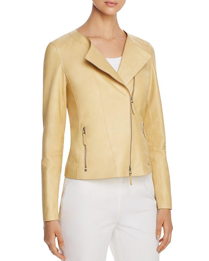 Lafayette 148 New York - Trista Leather Moto Jacket