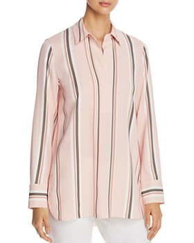 a7dd79979a22 Lafayette 148 New York - Venida Striped Side-Button Top ...