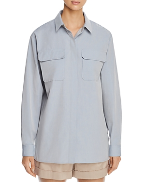 Lafayette 148 T-shirts EVERSON FLAP-POCKET SHIRT