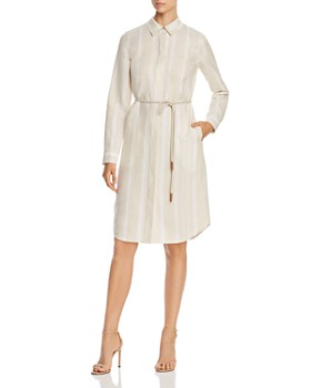 Lafayette 148 New York - Peggy Striped Linen Shirtdress